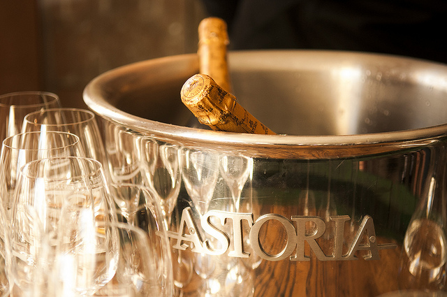Astoria's exclusive prosecco, made for Campagnolo's 50th Anniversary