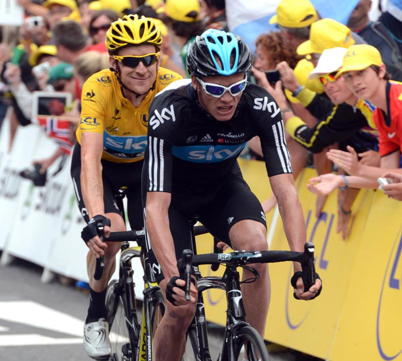 Chris Froome, with Sir Bradley Wiggins. Photo: Cycling Weekly.